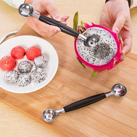 Outfits Kitchen Accessories Stainless Steel Ice Cream Fruits Baller BLACK + SILVER