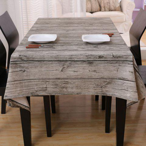 New Vintage Wood Grain Dust Prevention Table Cloth BROWN GREY 140*140CM