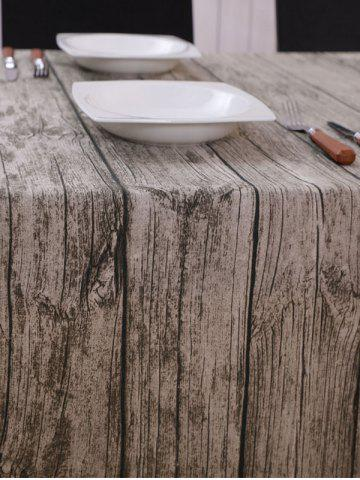 Affordable Vintage Wood Grain Dust Prevention Table Cloth - 140*200CM BROWN GREY Mobile