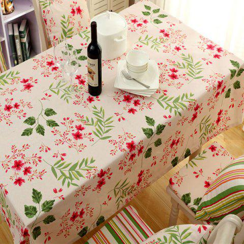 Unique Countryside Floral Print Waterproof Oilproof Table Cloth APRICOT 140*140CM