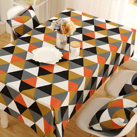 Affordable Europe Geometry Print Oilproof Kitchen Table Cloth COLORMIX 140*180CM