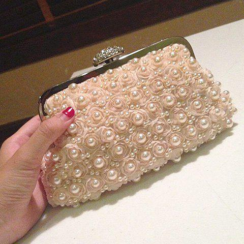 Affordable Petals Beaded Bags - PINKBEIGE  Mobile
