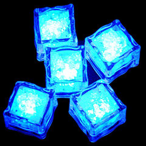 Creative LED Light Up Flashing Ice Cube - Blue