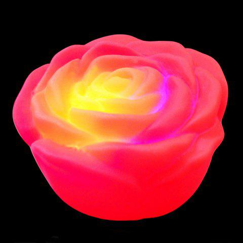 Hot Colorful LED Rose Flower Night Light RED