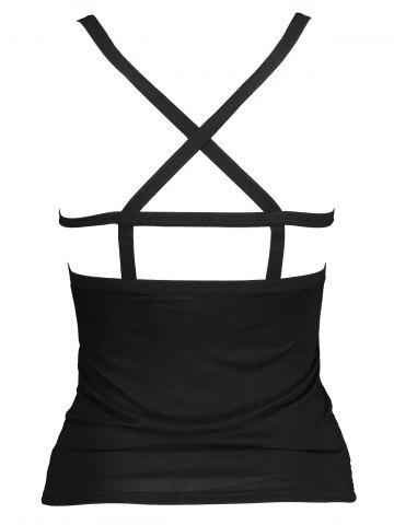 New Low Back Tight Strappy Bra Camisole - ONE SIZE BLACK Mobile