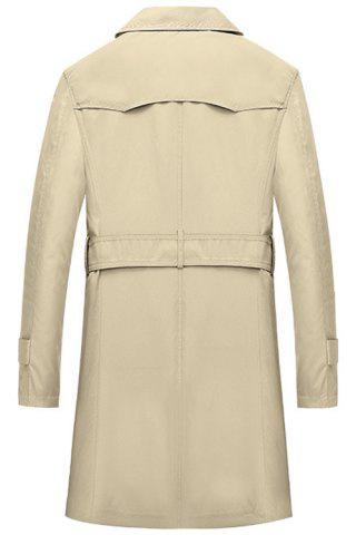 Outfit Double Breasted Epaulet Long Trench Coat - XL KHAKI Mobile