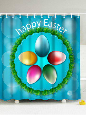 Online Happy Easter Polyester Shower Curtain - 180*200CM FUSION Mobile