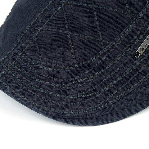 Trendy UV Protection Jeff Cap with Alloy Label - OFF-WHITE  Mobile