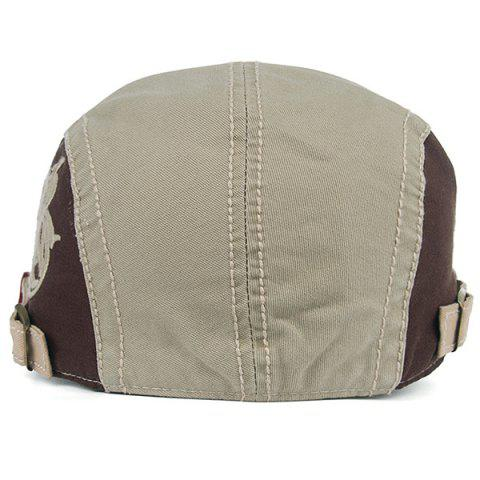Trendy Skull and Embroidery Embellished Jeff Cap - LIGHT KHAKI  Mobile