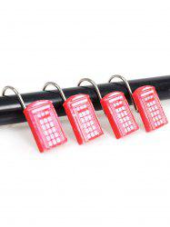12Pcs/Set Bath Resin Shower Curtain Hooks - RED