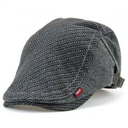 Texture Sewing Spliced Newsboy Cap - DEEP GRAY