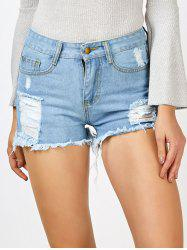High Waisted Ripped Cut Off Jean Shorts