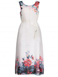 Chiffon Sleeveless Floral Maxi Wedding Guest Dress