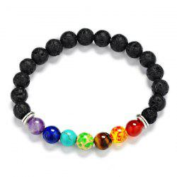 Faux Gem Lava Stone Beaded Bracelet