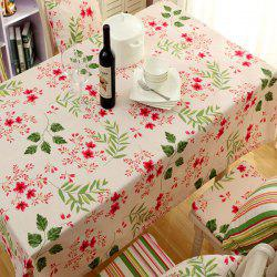 Countryside Floral Print Waterproof Oilproof Table Cloth - APRICOT