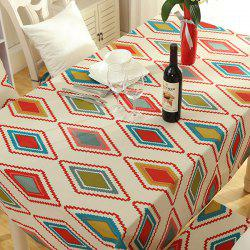 Thicken Rhombus Pattern Washable Table Cloth - COLORMIX