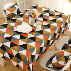 Europe Geometry Print Oilproof Kitchen Table Cloth - COLORMIX
