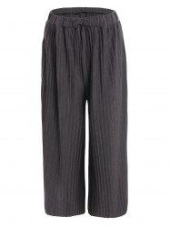 Plus Size Pleated Palazzo Pants