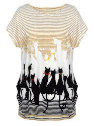Allover Print Oversized Tee