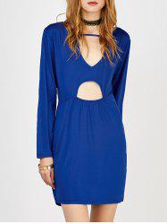Cut Out Long Sleeves Dress