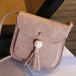 Tassel Wood Ball Cross Body Bag