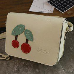 Flap Cross Body Cherry Patch Bag