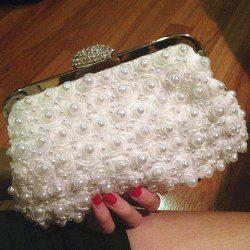 Petals Beaded Bags - WHITE