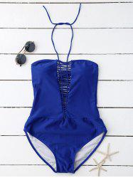 Criss Cross Halter One Piece Swimwear