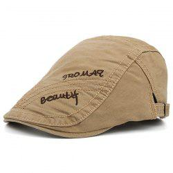 Tromaq Beautlf Embroidery UV Protection Jeff Cap - KHAKI