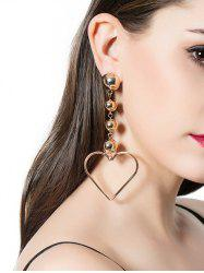 Alloy Beads Heart Drop Earrings
