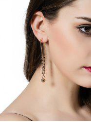 Alloy Chain Bead Drop Earrings