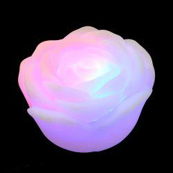 Colorful LED Rose Flower Night Light - WHITE