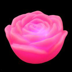 Colorful LED Rose Flower Night Light - PINK