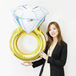 Aluminium Foil Diamod Ring Shape Balloon - YELLOW