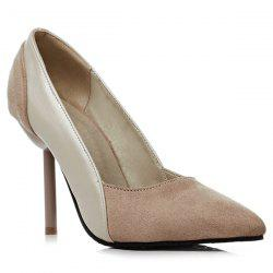 Pointed Toe Faux Leather Pumps