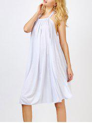 Halter Low Back Knee Length Summer Dress