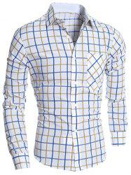 Pocket Plaid Long Sleeve Shirt