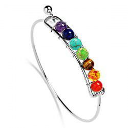 Faux Gem Multicolor Alloy Beaded Bracelet