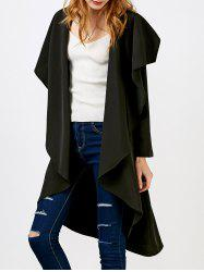 Drape Asymmetrical Open Front Coat
