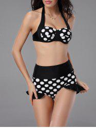 Ruffle Vintage High Waisted Pin Up Bikini