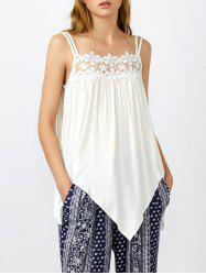 Crochet Trim Asymmetrical Tank Top