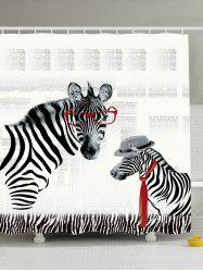 Zebra Animal Printing Mildewproof Shower Curtain