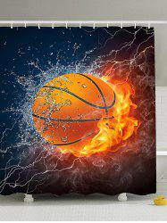 3D Burny Basketball polyester imperméable rideau de douche - Multicolore