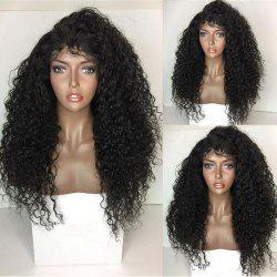 Long Kinky Curly Lace Front Synthetic Wig - BLACK