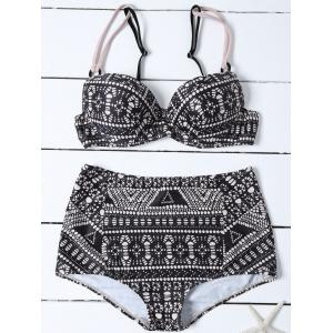 Adjustable Strap High Waist Bikini Set