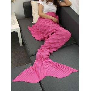 Fils tricoté Wrap Throw Mermaid Tail Blanket - Rose Rouge