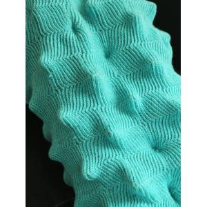Yarn Knitted Wrap Throw Mermaid Tail Blanket - LAKE BLUE 150*90CM