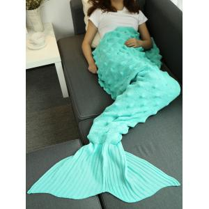 Fils tricoté Wrap Throw Mermaid Tail Blanket - Pers 150*90CM