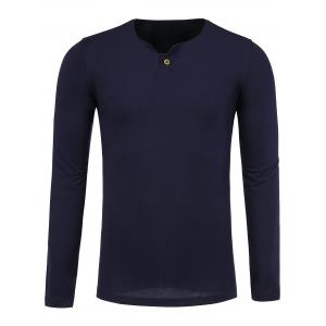 Long Sleeve Notch Neck T-Shirt
