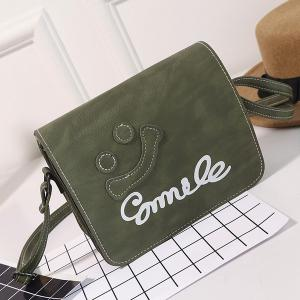 Smile Cross Body Flap Bag